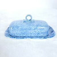 Mikasa Country Charm Covered Butter Dish D9525 Japan Kentucky Blue