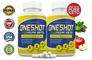 One Shot Pure Keto Pills Weight Loss Diet Pills BHB Ketogenic Supplement 2 Pack