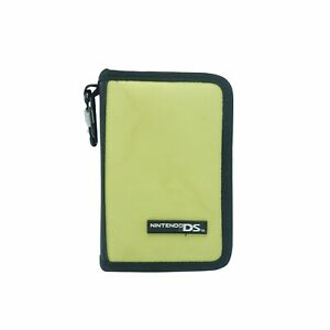 Nintendo DS Square Zippered Canvas Nylon Carry Case bag Lime Green color
