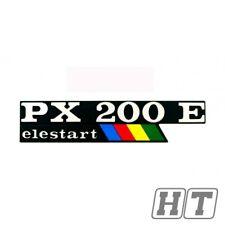 Emblem logotipo en letras px200e elestart 2 pins 135x33mm para Vespa px 200 e Lusso
