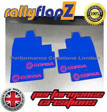 rallyflapZ to fit VAUXHALL CORSA C (00-07) Mudflaps Blue Logo Hot Pink 3mm PVC