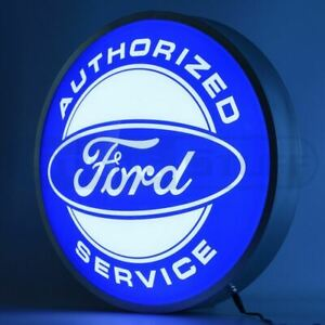 "LED Sign - Ford Service 15"" Backlit Sign * Garage/Man Cave * Ships FREE To USA!"