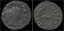 Gallienus billon antoninianus antelope standing right