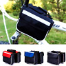 New Bicycle Front Frame Bag Cycling Bike Tube Pouch Holder Saddle Panniers--