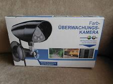Überwachungs Kamera in Farbe Nachtsichtsfunktion 8 infrarot leds Innen Außen