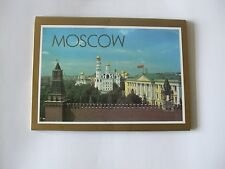 12 USSR 1987 MOSCOW VINTAGE COLOUR POSTCARDS IN THEIR ORIGINAL SLEEVE UNUSED