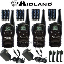 Midland Xtra Talk LXT118VP 4 Pack Set Two Way Radio Walkie Talkie GMRS 18 Mile