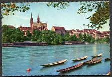 C1950's View of the Munster and River Front, Basel, Switzerland