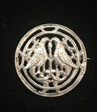 VINTAGE FRATELLI COPPINI ~ 800 Sterling Silver Brooch Pin With C Clasp Stunning