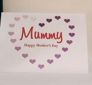 Personalised Mother's Day Card for Mummy Mum Mom Mommy Mami - Mothers Day