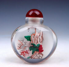 Peking Glass Inside *Oriental Scenery* Reverse Hand Painted Snuff Bottle #011716