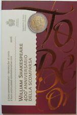 SAINT-MARIN - 2 Euro Commémorative - 2016 Officiel Shakespeare