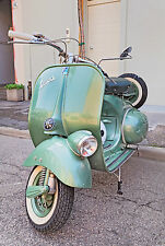 STUNNING VINTAGE VESPA SCOOTER #777 RETRO MODS CANVAS PICTURE WALL ART A1