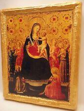 Virgin Mary Jesus Christ Christian Rare Christianity Catholic Icon on Real Wood