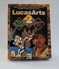 LucasArts x2 Day of the Tentacle, Indiana Jones Fate of Atlantis BIG BOX PC CD