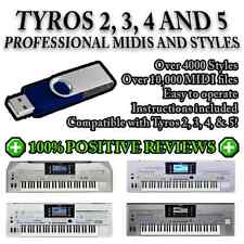 YAMAHA TYROS 2, 3, 4 & 5 - 4000 Pro Styles / OVER 10,000 MIDIs on a USB Stick