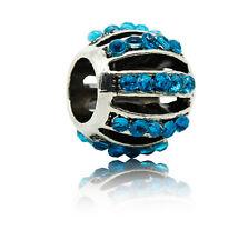 New European Silver CZ Charm Beads Fit sterling 925 Necklace Bracelet Chain d145
