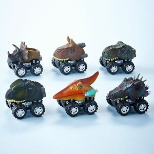 Dinosaur Friction Car Toys - Pullback Toy Cars - Set of 6