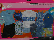 RARE 2001 BARBIE & KEN BLUE COLORED JOE BOXER 6 FASHION GIFT PACK #68802 A