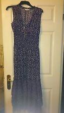 Jasper Conran Boho purple spotty gypsy style sheer maxi dress size 12