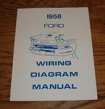 1958 Ford Wiring Diagram Manual Brochure 58