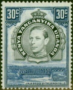 K.U.T 1941 30c Black & Dull Violet-Blue SG141a P.14 Fine Lightly Mtd Mint