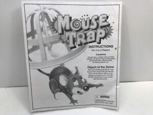 Vintage 1999 Mouse Trap Board Game Instructions Milton Bradley