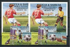 Antigua und Barbuda 925/28 + 968/71 Block 106 + 155 postfrisch / Fußball ..2/792