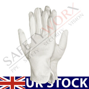 3 PAIRS JEWELLERY ANTIQUES WATCH MAKERS HANDLING GLOVES WHITE COTTON MICRO DOTS
