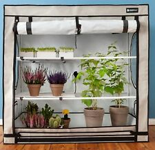 Indoor Greenhouse Grow Plant Home Garden Portable 4 Adjustable Shelves Roof Vent