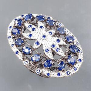 Fine art jewellery Blue Sapphire Ring Silver 925 Sterling  Size 7.75 /R167016