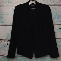 WHBM White House Black Market Blazer Sz 6 Polyester Womens One Button Jacket