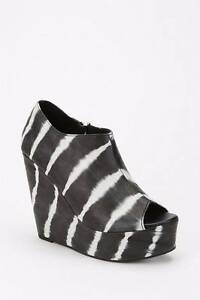 """New  SHAKUHACHI  """"Cut Out Peep Toe""""  Tie Dye Leather Wedge Boots Size 41 - $499"""