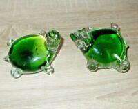 2x Schildkröte Glas Figur Tier Briefbeschwerer Paperweight Glass Handmade