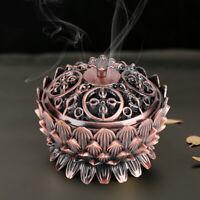 Vintage Lotus Shape Alloy Incense Burner Buddhist Censer Holder Home Decor
