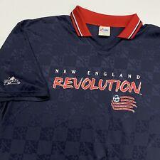 Vintage New England Revolution Soccer Jersey Adult XL Blue MLS Majestic USA