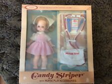 """Horsman Candy Striper 11"""" Doll With Nurse Play Accessories In Original Box"""