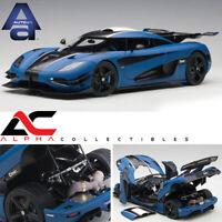 PRESALE - AUTOART 79018 1:18 KOENIGSEGG ONE 1 (MATT IMPERIAL BLUE/CARBON BLACK)