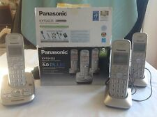 Panasonic Digital Cordless Answering System with 3 Handsets, Dect 6.0 Plus