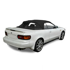 Fits: Toyota Celica 1991-1993 Convertible Soft Top & Plastic Window Black Cloth