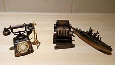 Novelty Phone, Cash Register and Battleship Pencil Sharpners Made in HK/China