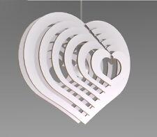 Lampadario moderno Design cuore 3D  Lampada Sospensione Soffitto Arredamen