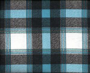 Flannel Queen Sheet Set Black & Blue Plaid 4pc Novelty Striped Cottage Gingham