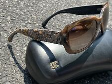 AUTHENTIC CHANEL SUNGLASSES WITH LEATHER CASE ORIGINAL RARE *MAKE AN OFFER*