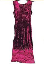 Motel Women's Dress Large Purple Velour Maxi Sleeveless Slit Sides (CL)
