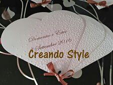 Ventagli matrimonio segnaposto cerimonie e wedding Hand made fatti a mano