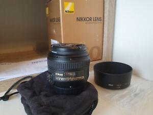 Nikon NIKKOR AF-S 50mm f/1.4 G Lens + Hoya UV Filter AS NEW CONDITION