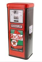Texaco Sky Chief Metal Gas Pump Tin W Lid