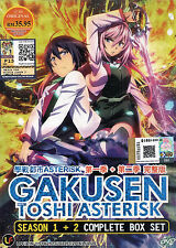 The Asterisk War Complete Season 1 & 2 DVD Episode 1 - 24 English Subtitles