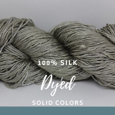 1 Skein - 250 Meters -100% Silk Spun from Cocoons,Twisted & Dyed - KB 52